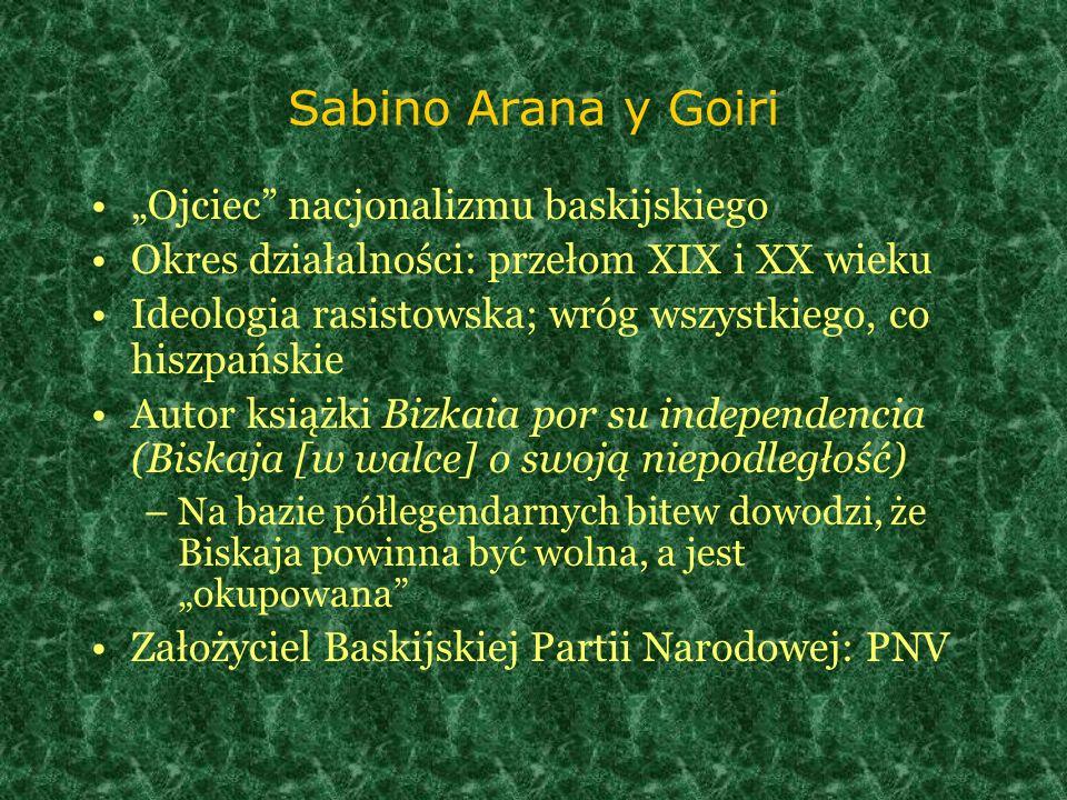 """Sabino Arana y Goiri """"Ojciec nacjonalizmu baskijskiego"""