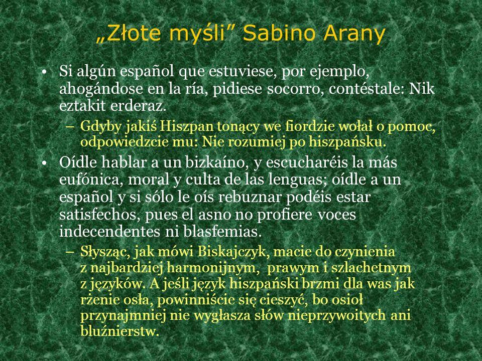 """""""Złote myśli Sabino Arany"""