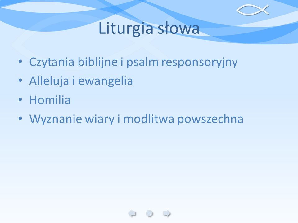 Liturgia słowa Czytania biblijne i psalm responsoryjny