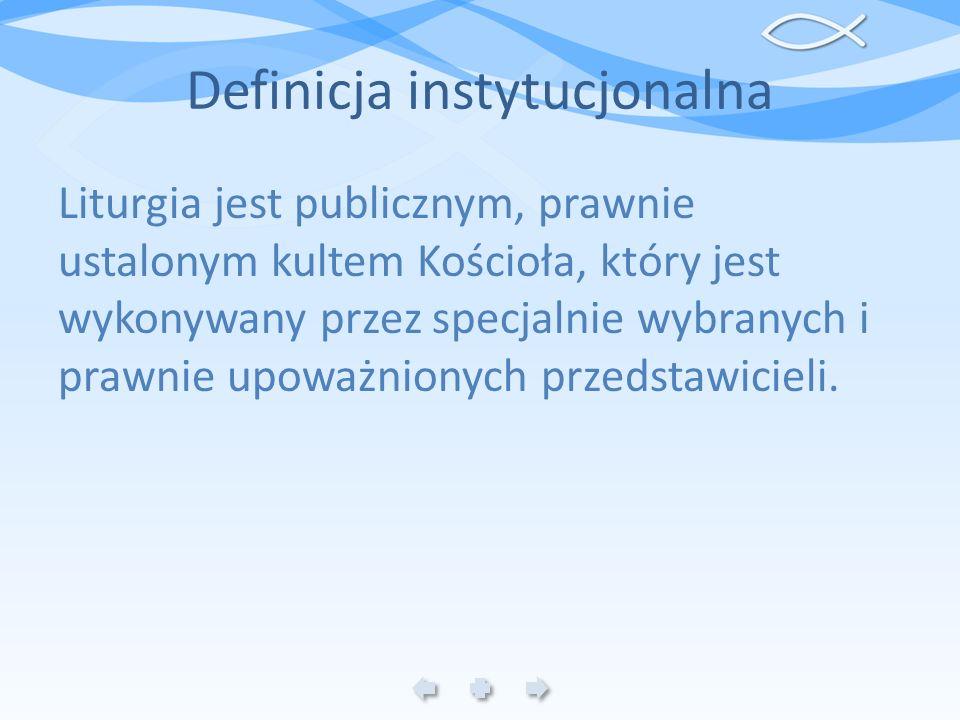 Definicja instytucjonalna