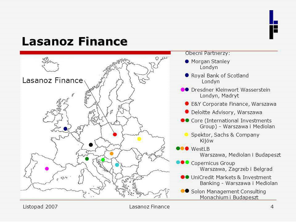 Lasanoz Finance Lasanoz Finance Obecni Partnerzy: