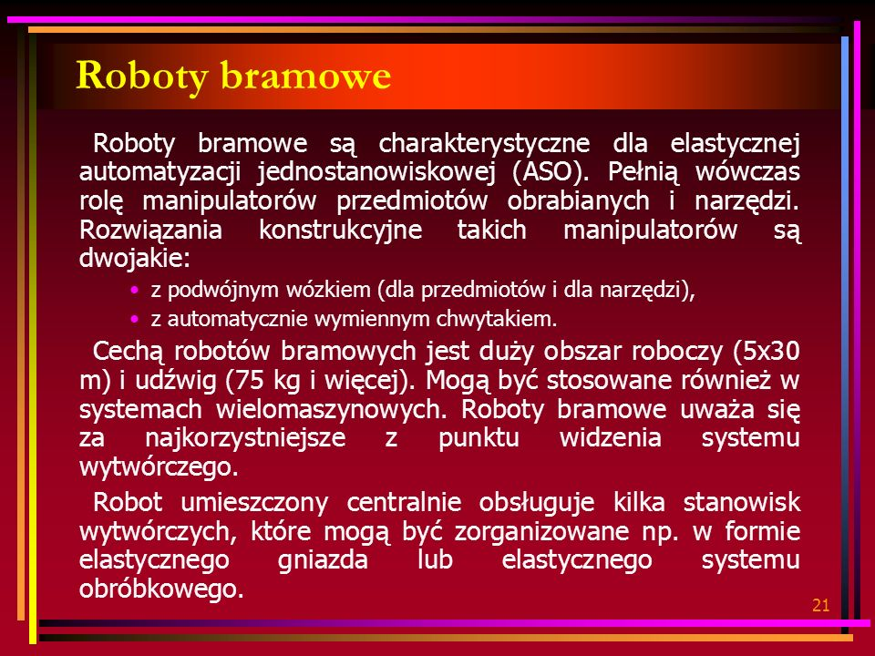 Roboty bramowe