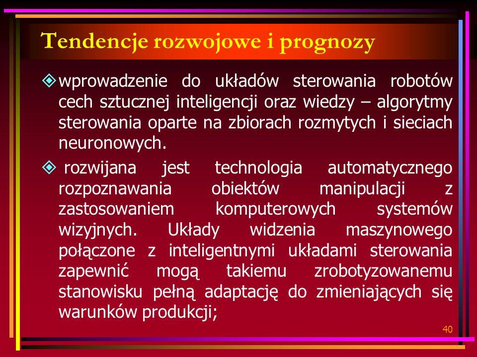 Tendencje rozwojowe i prognozy