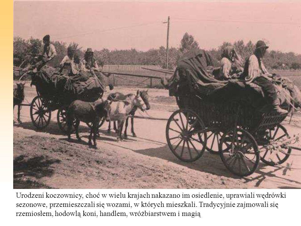 Urodzeni koczownicy, choć w wielu krajach nakazano im osiedlenie, uprawiali wędrówki sezonowe, przemieszczali się wozami, w których mieszkali.