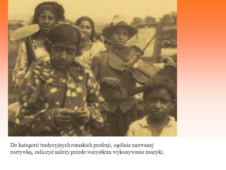 Do kategorii tradycyjnych romskich profesji, ogólnie nazwanej rozrywką, zaliczyć należy przede wszystkim wykonywanie muzyki.