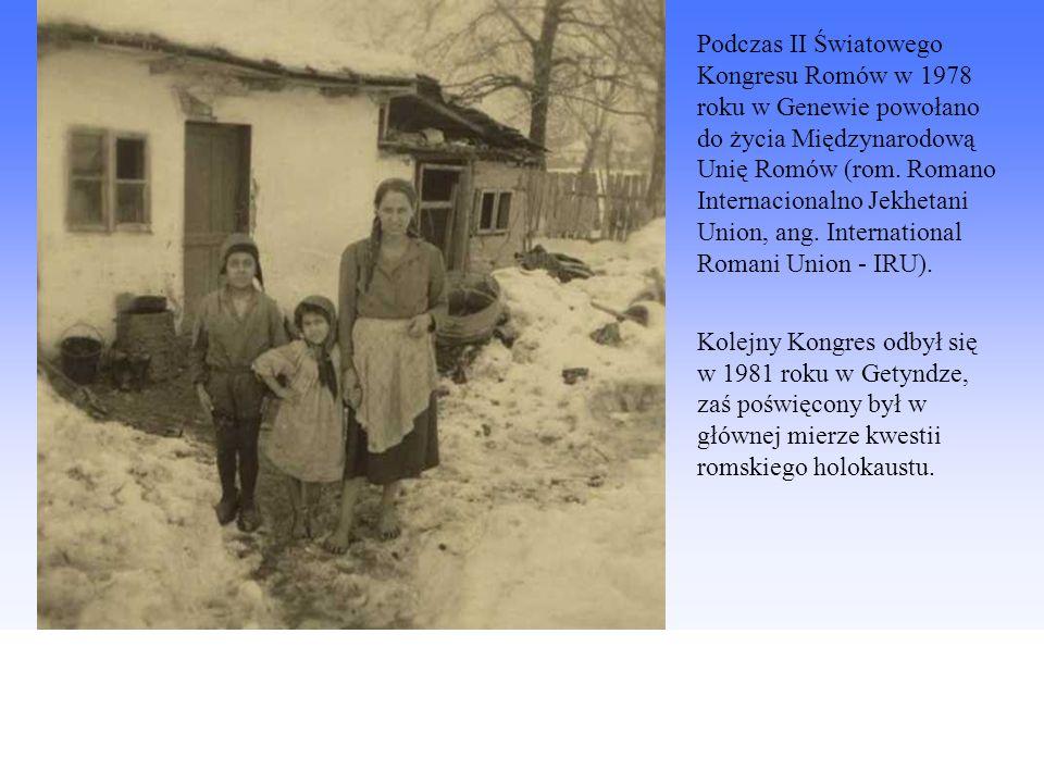 Podczas II Światowego Kongresu Romów w 1978 roku w Genewie powołano do życia Międzynarodową Unię Romów (rom. Romano Internacionalno Jekhetani Union, ang. International Romani Union - IRU).