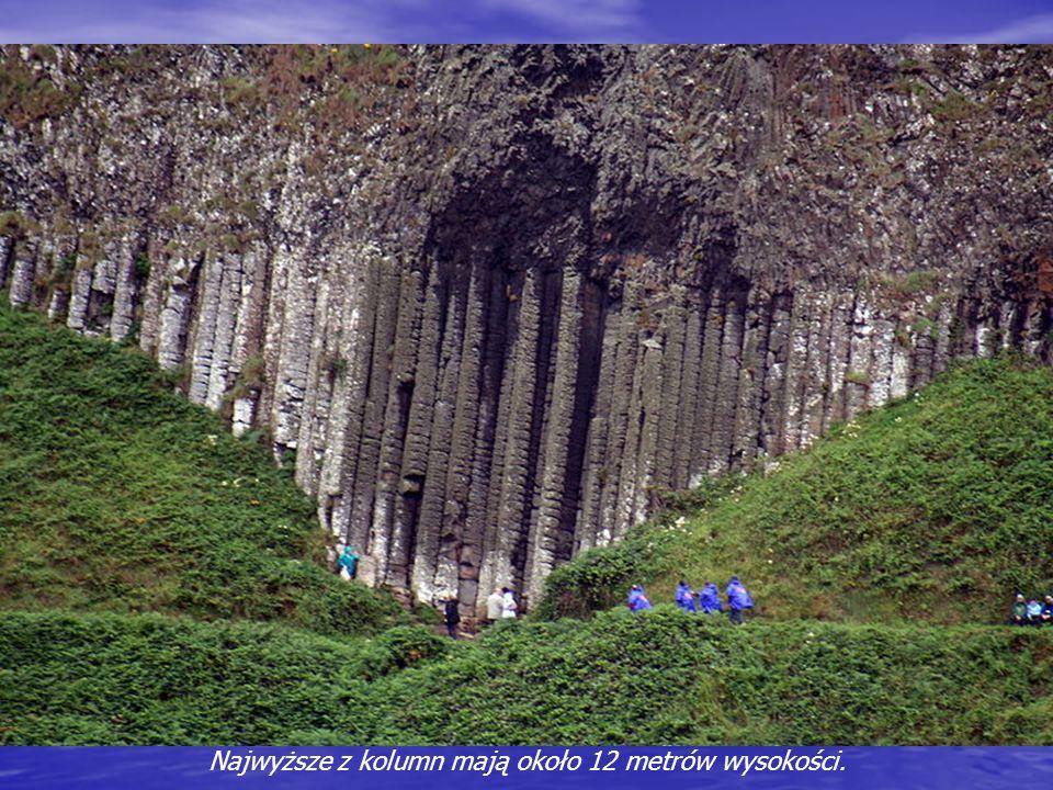 Najwyższe z kolumn mają około 12 metrów wysokości.