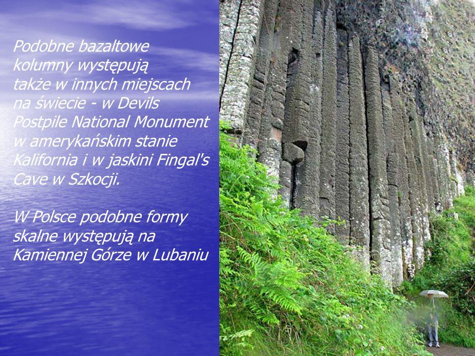 Podobne bazaltowe kolumny występują