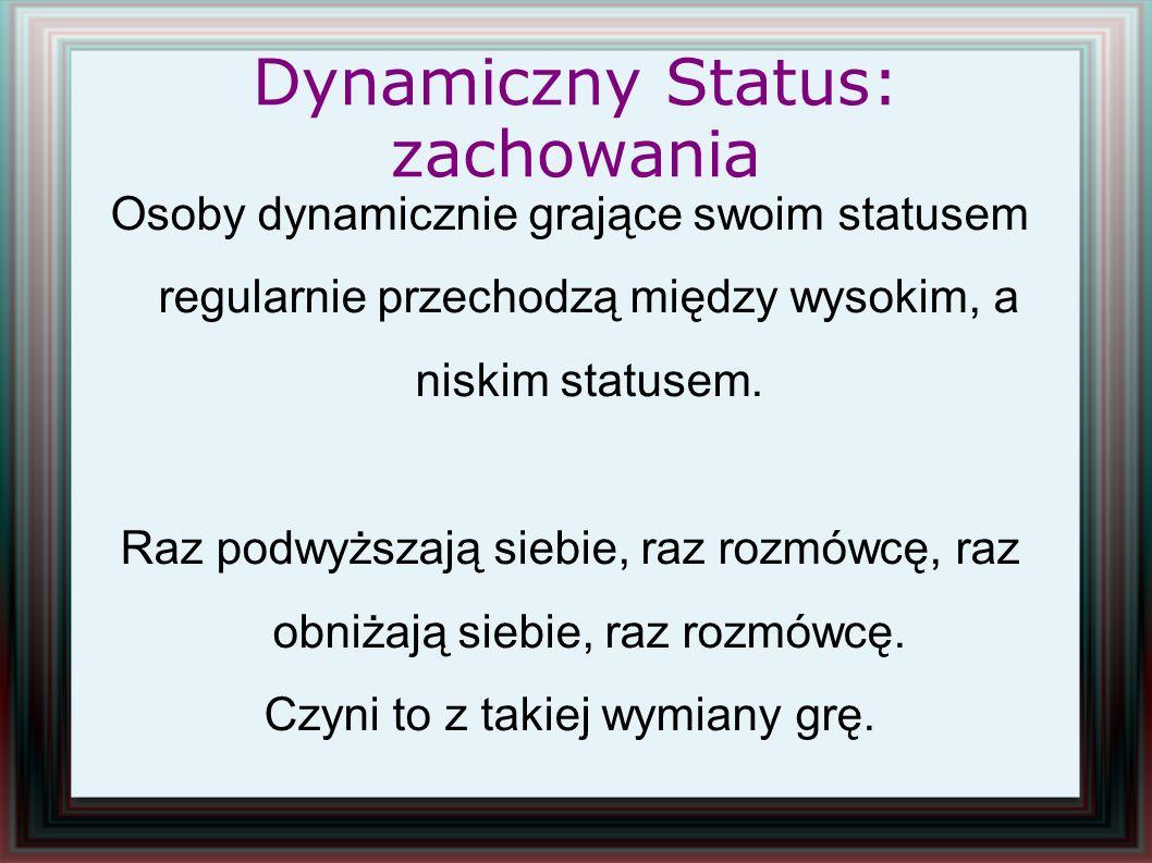 Dynamiczny Status: zachowania