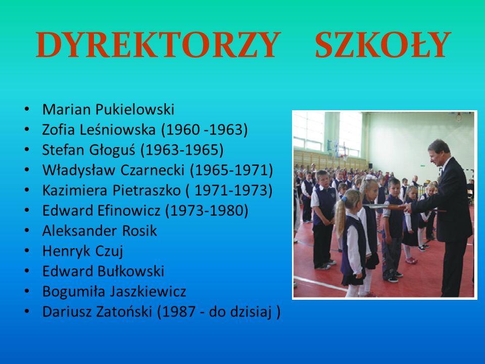 DYREKTORZY SZKOŁY Marian Pukielowski Zofia Leśniowska (1960 -1963)