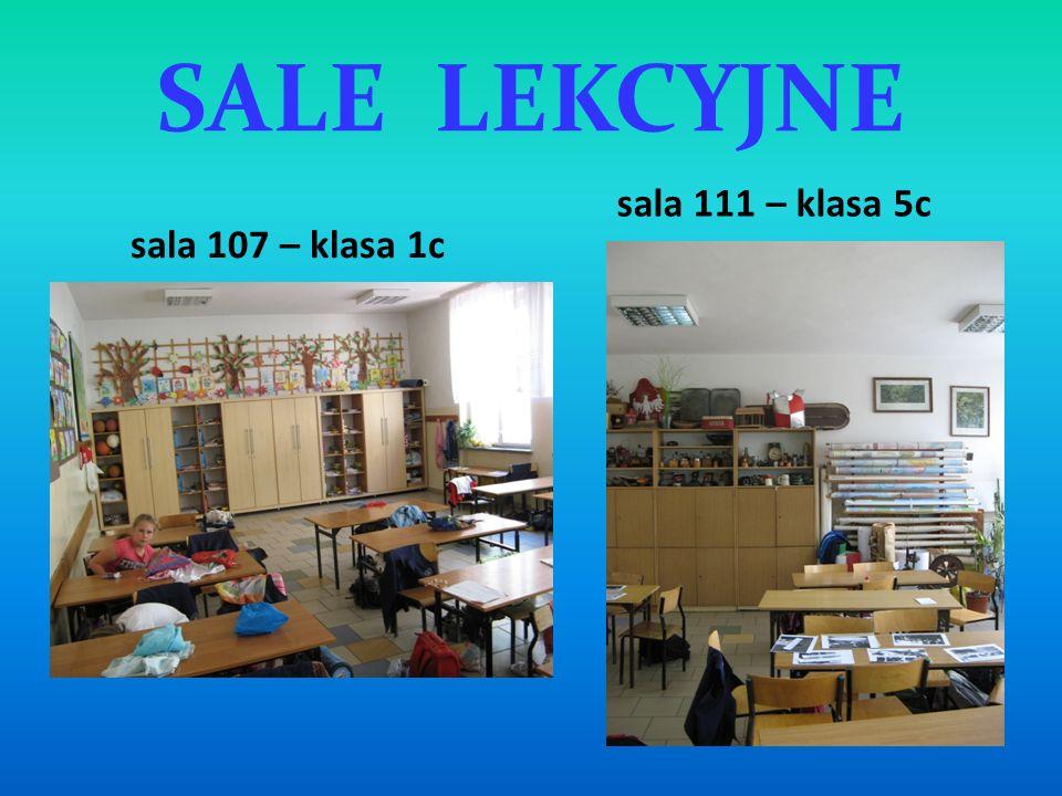 SALE LEKCYJNE sala 111 – klasa 5c sala 107 – klasa 1c
