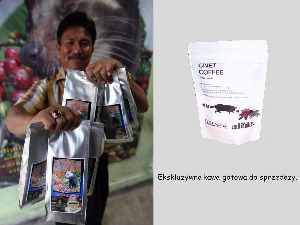 Ekskluzywna kawa gotowa do sprzedaży.