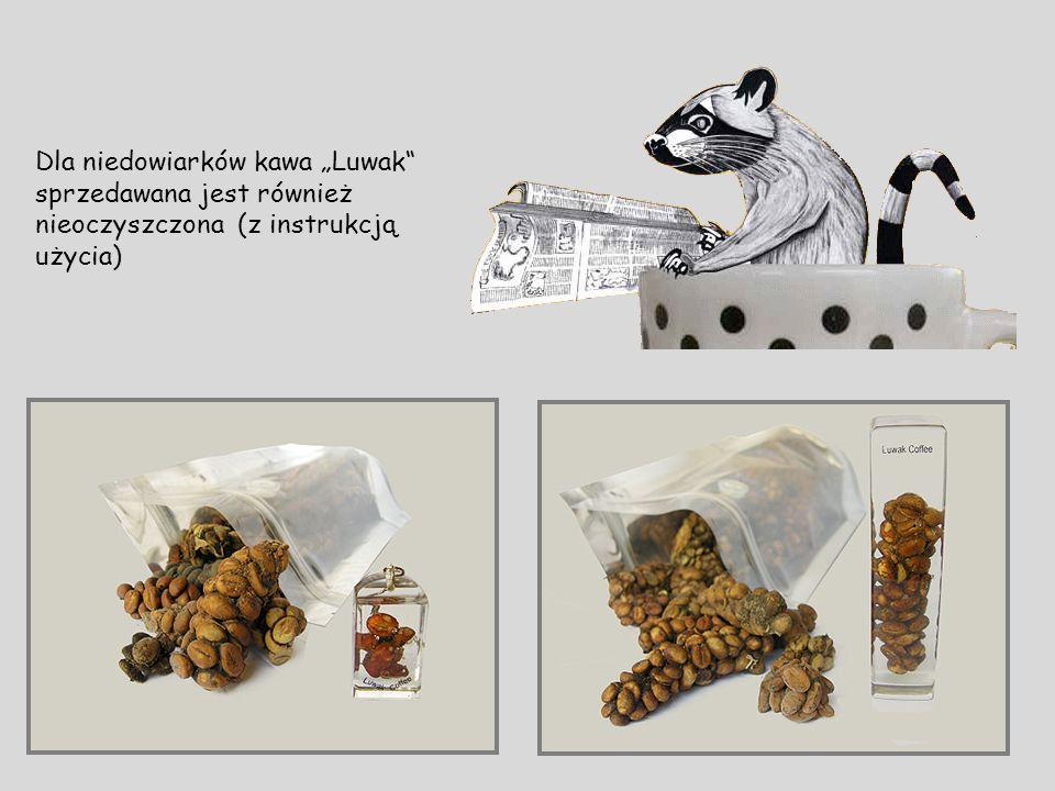 """Dla niedowiarków kawa """"Luwak sprzedawana jest również nieoczyszczona (z instrukcją użycia)"""