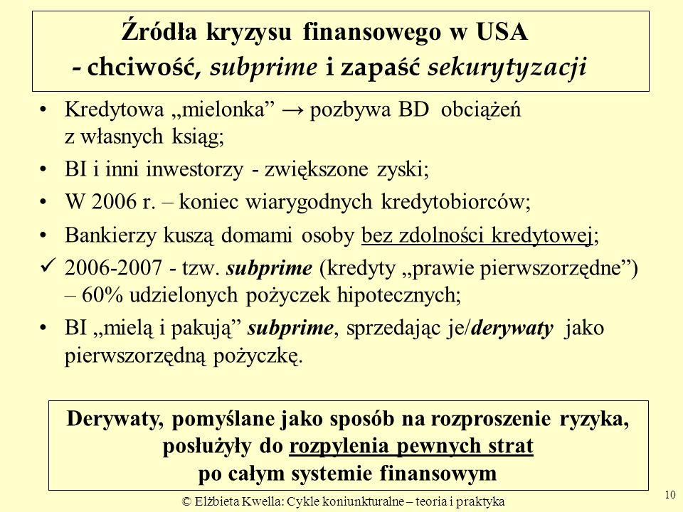 - chciwość, subprime i zapaść sekurytyzacji