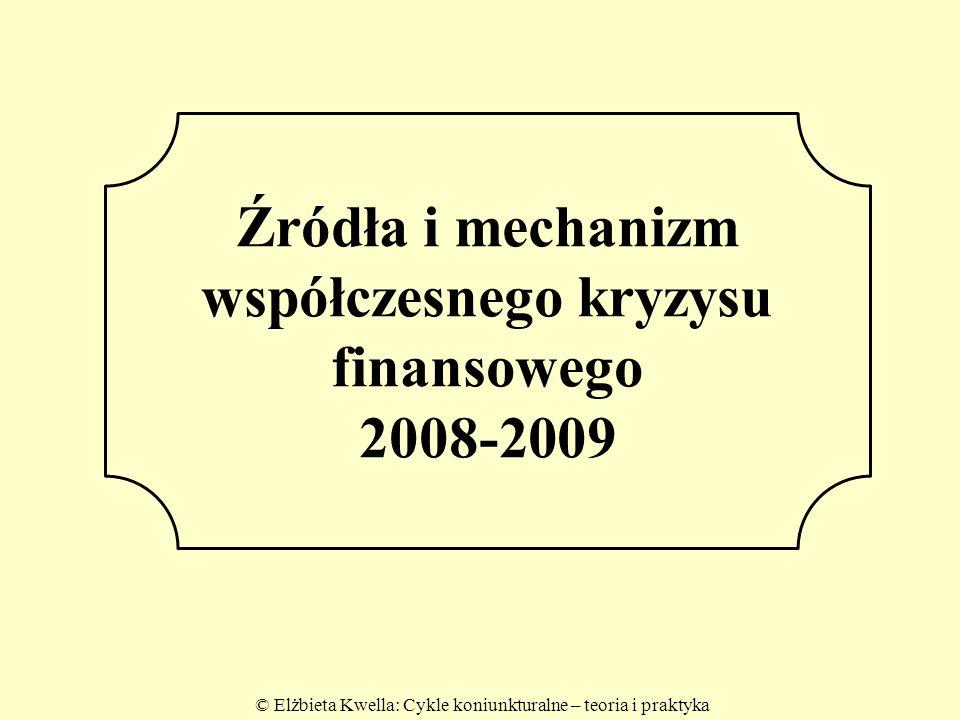 Źródła i mechanizm współczesnego kryzysu finansowego