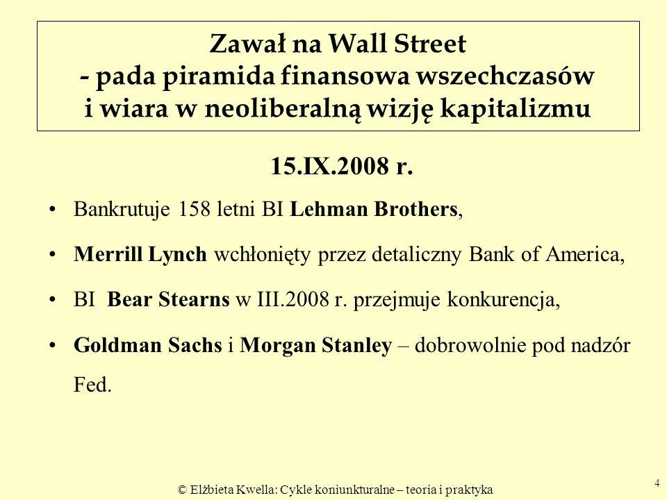 Zawał na Wall Street - pada piramida finansowa wszechczasów i wiara w neoliberalną wizję kapitalizmu