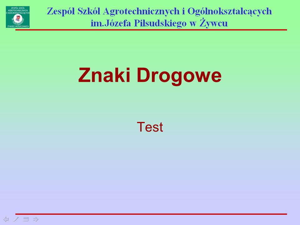 Znaki Drogowe Test