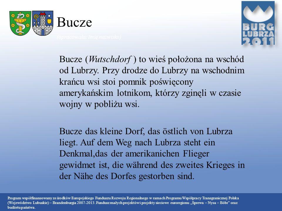 Bucze (opracowała: Imię nazwisko)