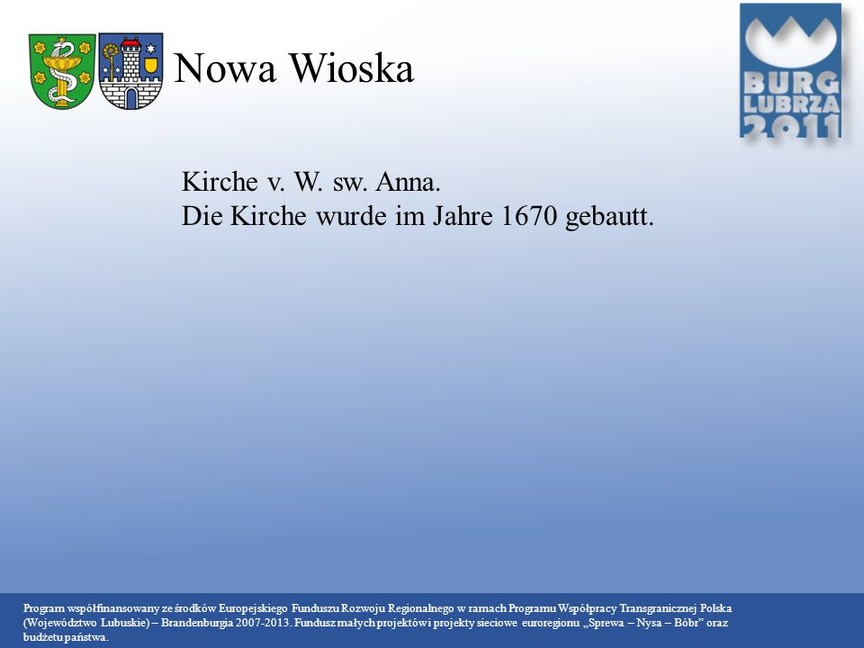 Nowa Wioska Kirche v. W. sw. Anna.