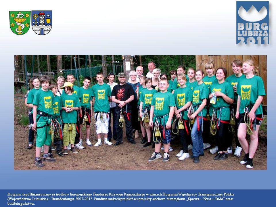 Program współfinansowany ze środków Europejskiego Funduszu Rozwoju Regionalnego w ramach Programu Współpracy Transgranicznej Polska (Województwo Lubuskie) – Brandenburgia 2007-2013.