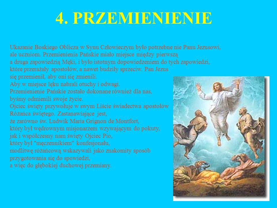 4. PRZEMIENIENIE Ukazanie Boskiego Oblicza w Synu Człowieczym było potrzebne nie Panu Jezusowi,
