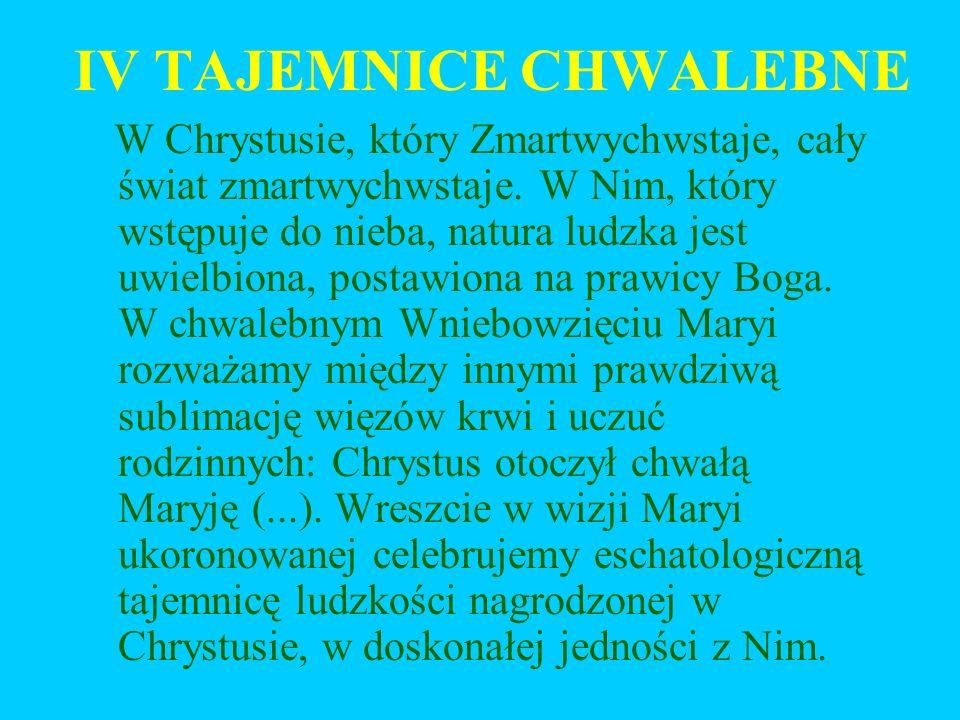 IV TAJEMNICE CHWALEBNE