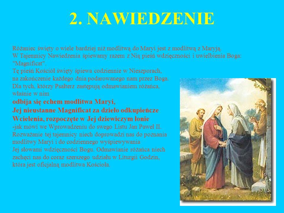 2. NAWIEDZENIE odbija się echem modlitwa Maryi,