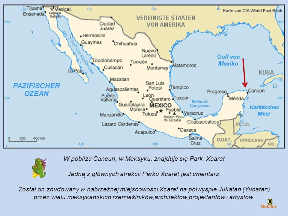 W pobliżu Cancun, w Meksyku, znajduje się Park Xcaret