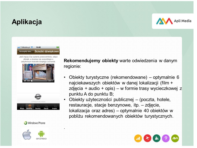 Aplikacja Rekomendujemy obiekty warte odwiedzenia w danym regionie: