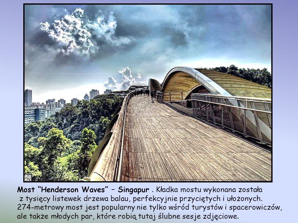 Most Henderson Waves – Singapur . Kładka mostu wykonana została
