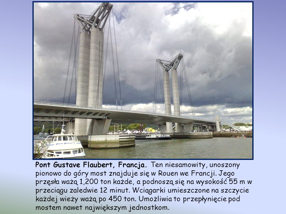 Pont Gustave Flaubert, Francja