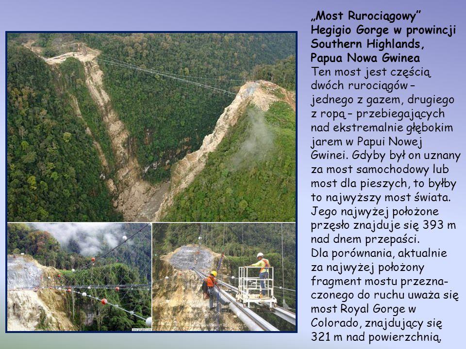 """""""Most Rurociągowy Hegigio Gorge w prowincji Southern Highlands, Papua Nowa Gwinea."""