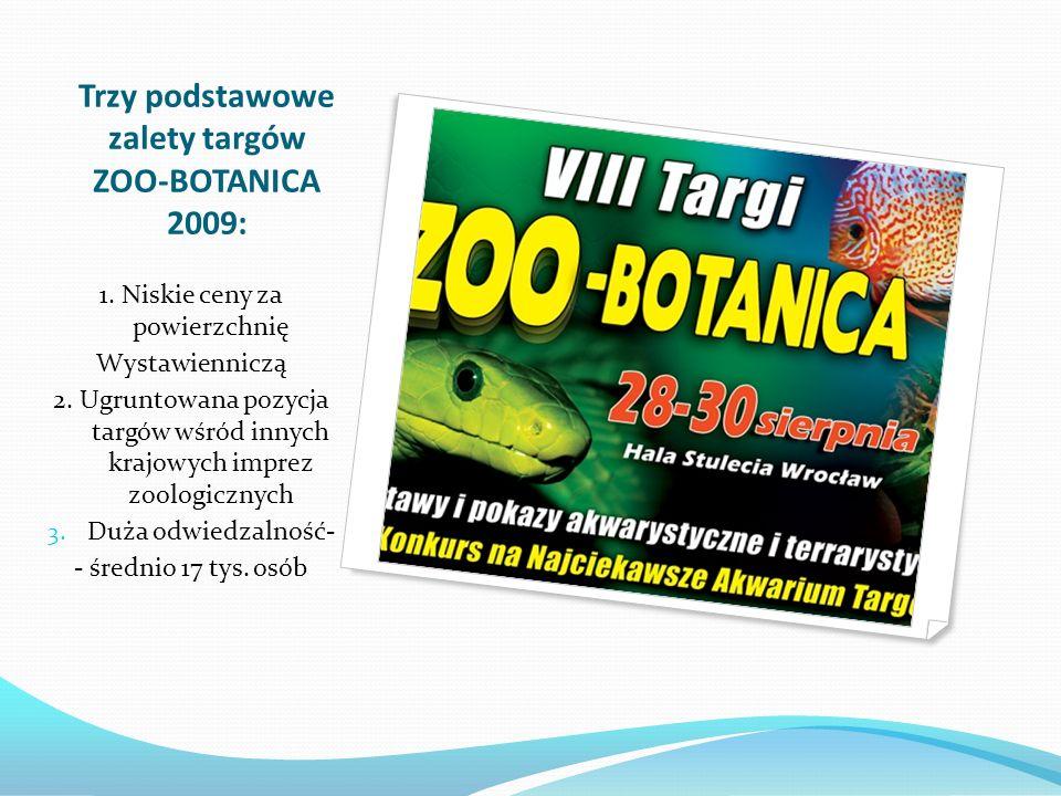 Trzy podstawowe zalety targów ZOO-BOTANICA 2009:
