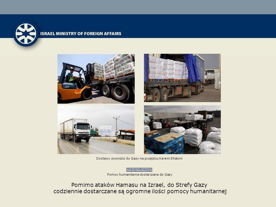 Dostawy żywności do Gazy na przejściu Kerem Shalom