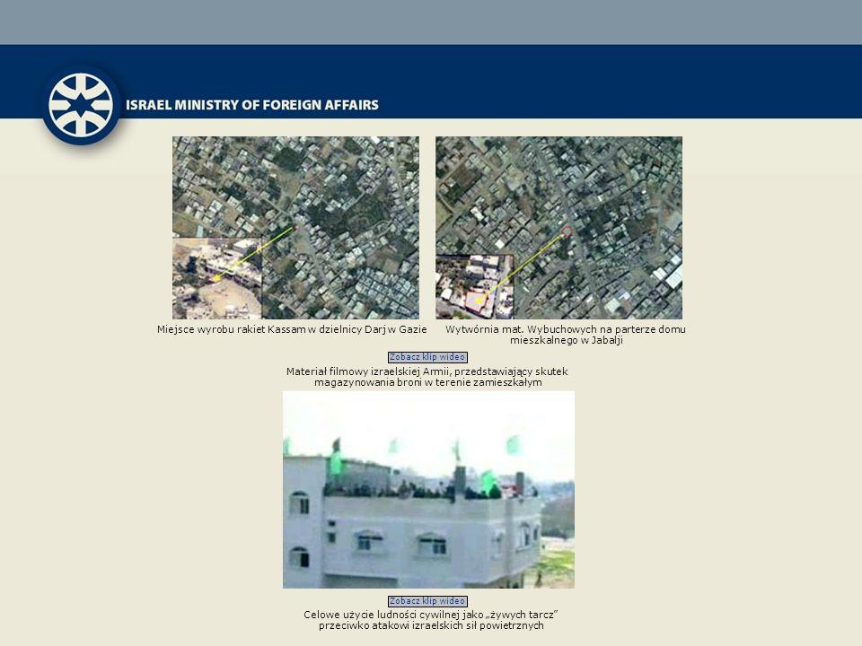 Miejsce wyrobu rakiet Kassam w dzielnicy Darj w Gazie