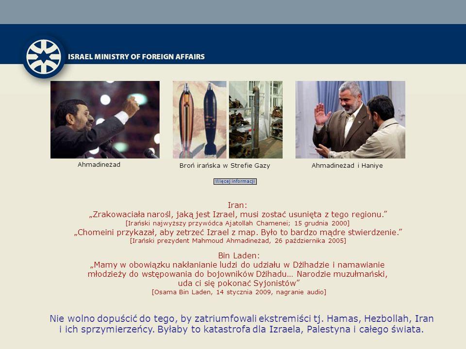 Ahmadineżad Broń irańska w Strefie Gazy. Ahmadineżad i Haniye. Więcej informacji. Iran: