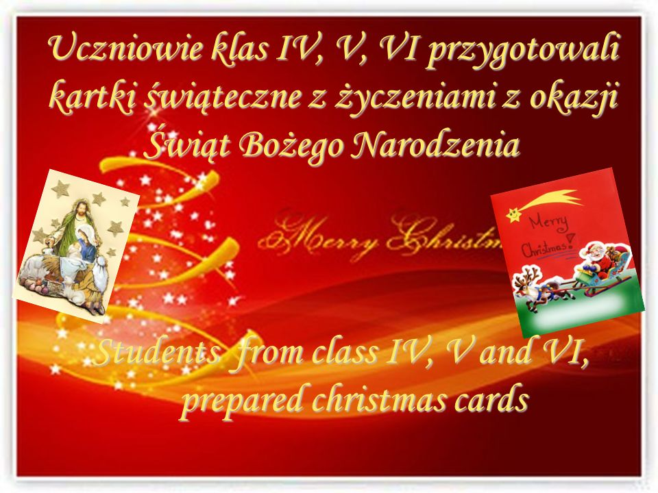 Students from class IV, V and VI, prepared christmas cards
