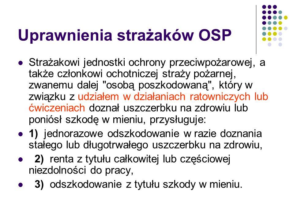 Uprawnienia strażaków OSP