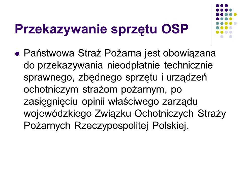 Przekazywanie sprzętu OSP