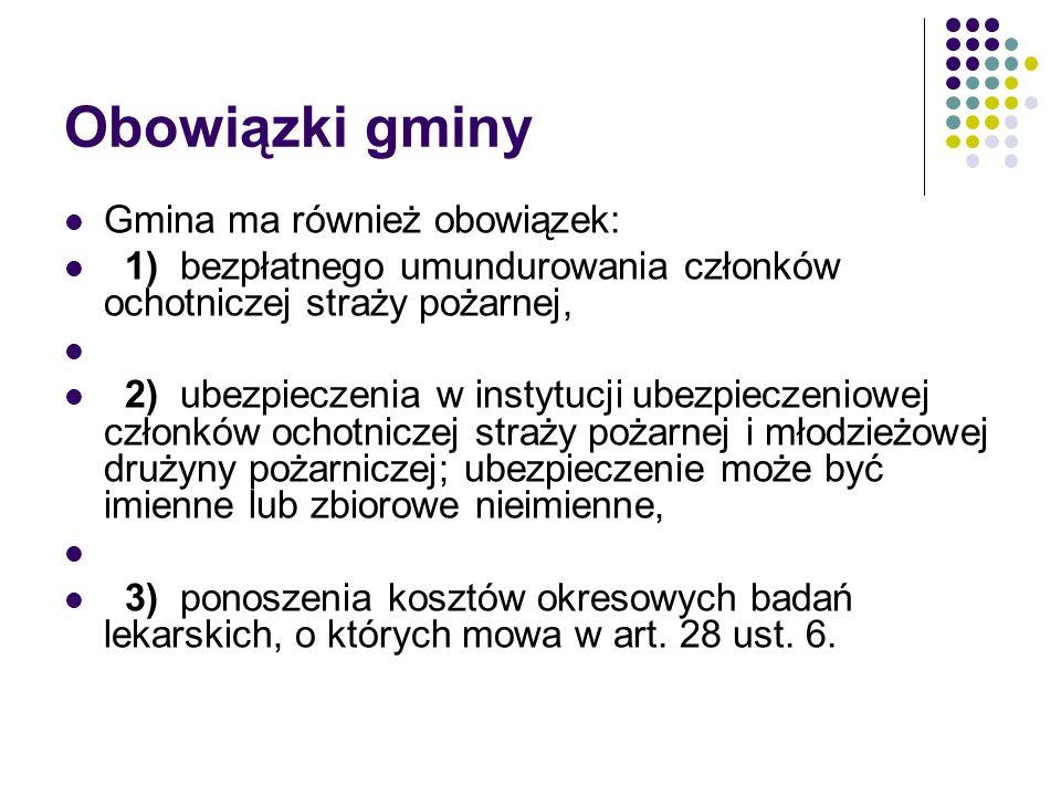 Obowiązki gminy Gmina ma również obowiązek: