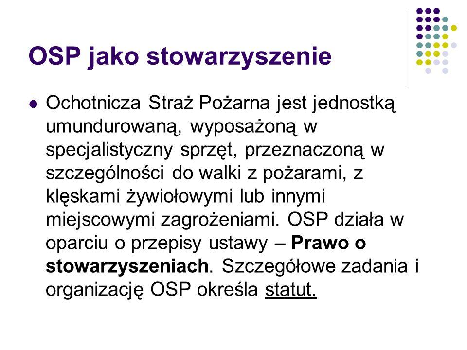 OSP jako stowarzyszenie