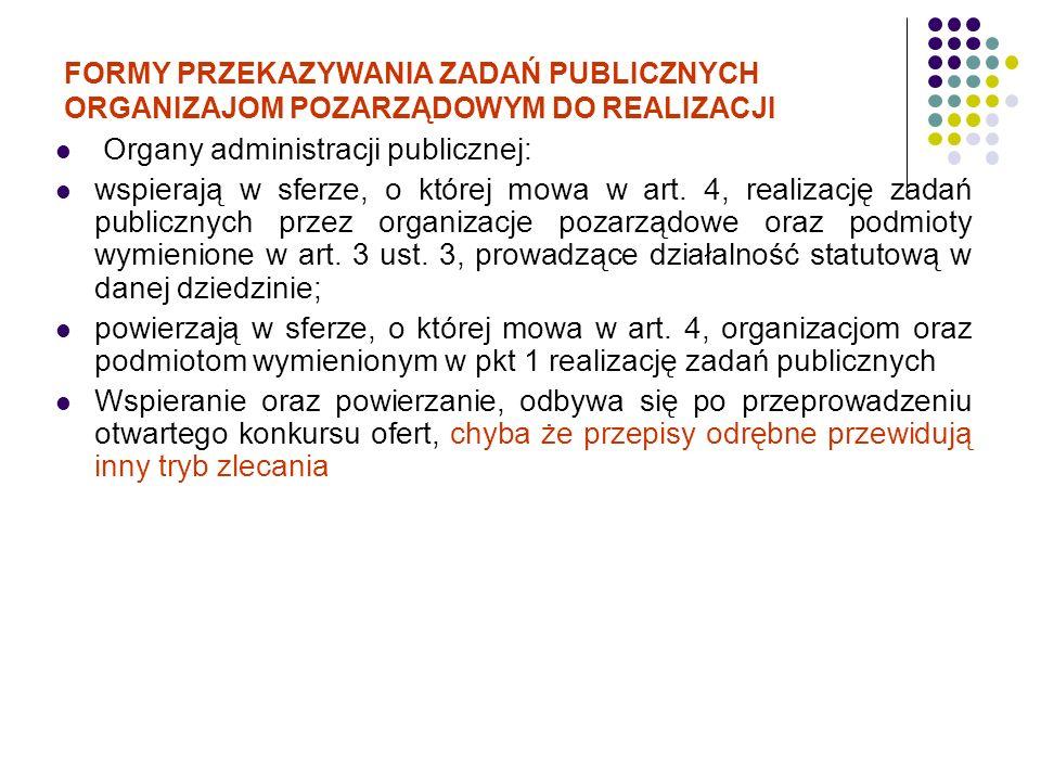 Organy administracji publicznej: