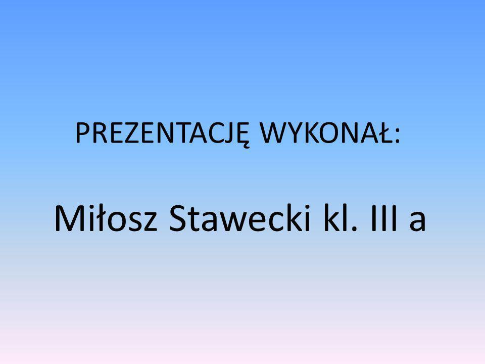 Miłosz Stawecki kl. III a