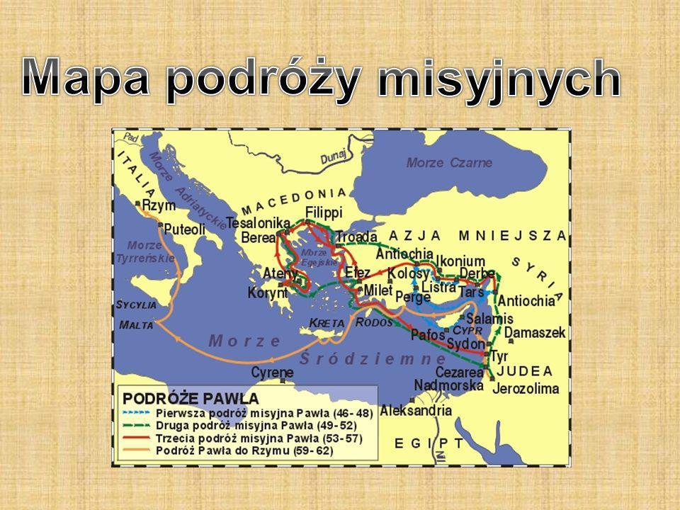 Mapa podróży misyjnych