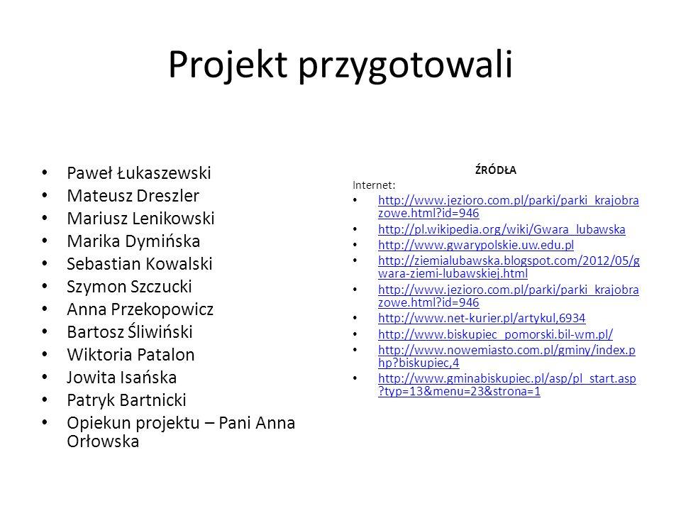 Projekt przygotowali Paweł Łukaszewski Mateusz Dreszler