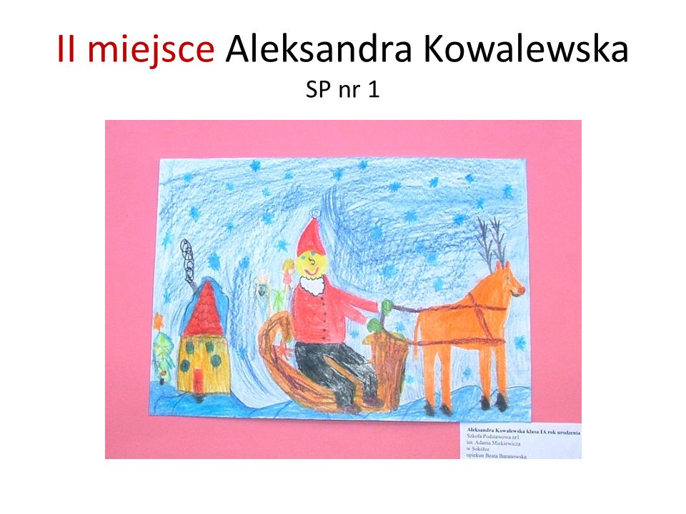 II miejsce Aleksandra Kowalewska SP nr 1