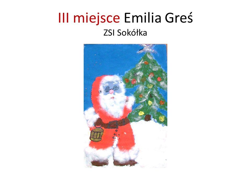 III miejsce Emilia Greś ZSI Sokółka