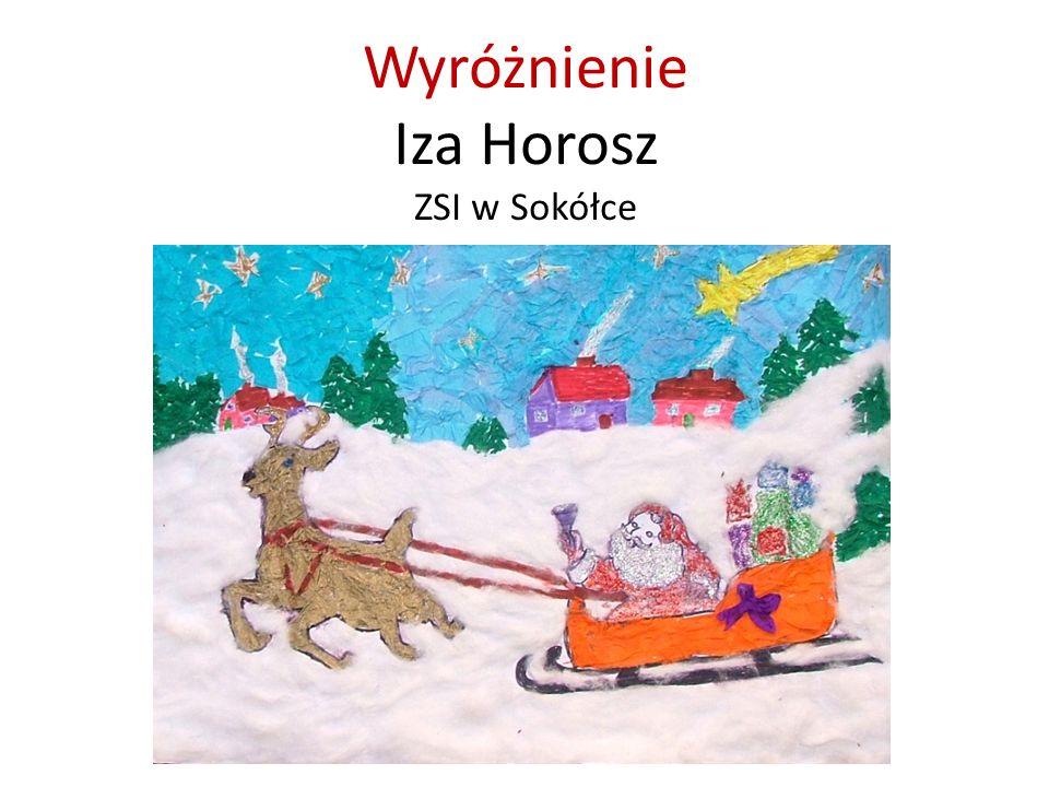 Wyróżnienie Iza Horosz ZSI w Sokółce
