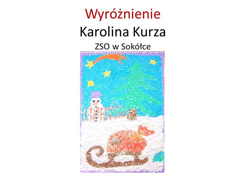 Wyróżnienie Karolina Kurza ZSO w Sokółce
