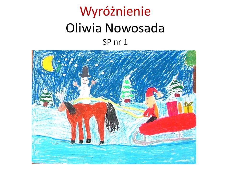 Wyróżnienie Oliwia Nowosada SP nr 1